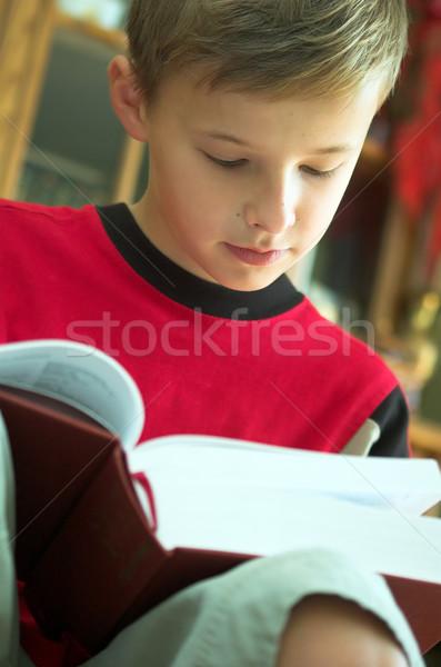 Okuma kitap eski ağır kâğıt Stok fotoğraf © photocreo
