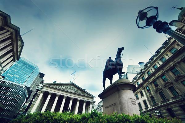 Banco inglaterra real troca Wellington estátua Foto stock © photocreo