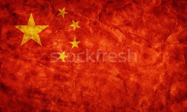 中国 グランジ フラグ アイテム ヴィンテージ ストックフォト © photocreo