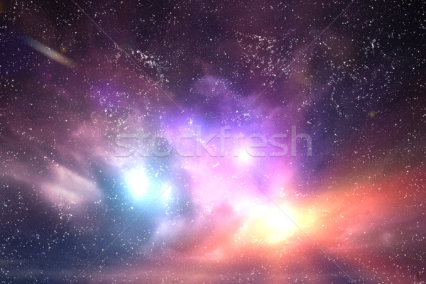 Galaxy, space sky. Stars, lights, fantasy background Stock photo © photocreo