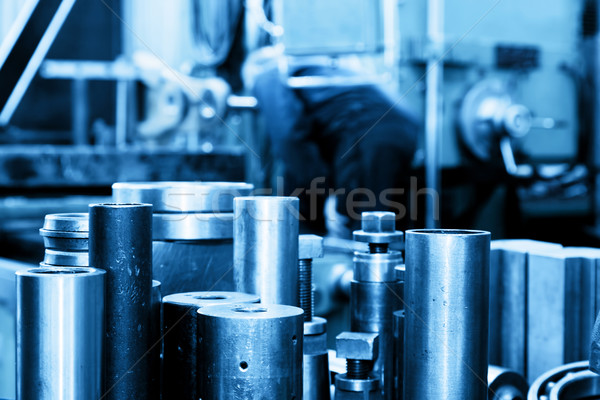 Stockfoto: Industriële · staal · workshop · industrie · machine · werken