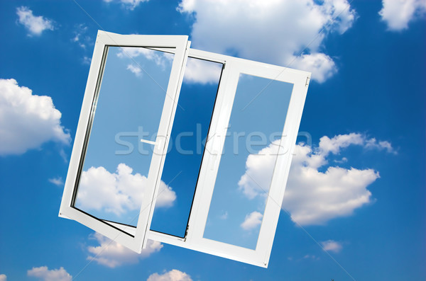 Window on blue sky Stock photo © photocreo