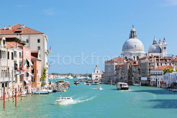 Venice, Italy. Grand Canal and Basilica Santa Maria della Salute Stock photo © photocreo