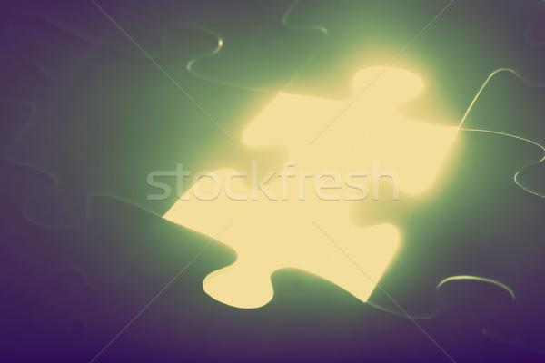 Stuk vermist licht oplossing Stockfoto © photocreo