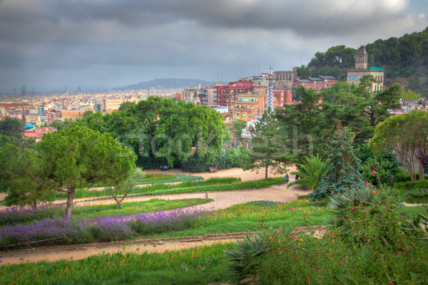 Park Guell, view on Barcelona, Spain Stock photo © photocreo