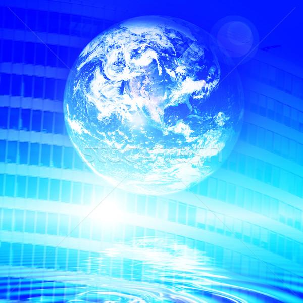 Ziemi technologii futurystyczny internetowych komunikacji koncepcje Zdjęcia stock © photocreo
