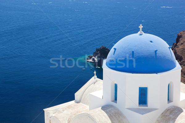 Ciudad santorini isla Grecia blanco iglesia Foto stock © photocreo