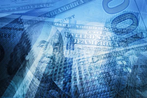 Pénz pénzügy üzlet absztrakt usd dollár bankjegyek Stock fotó © photocreo