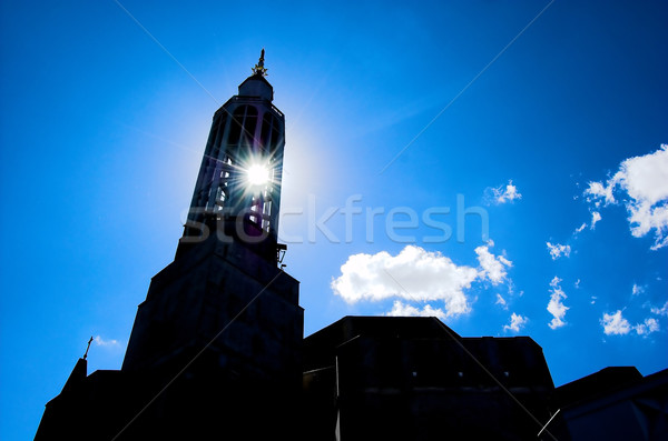 Sun and church Stock photo © photocreo