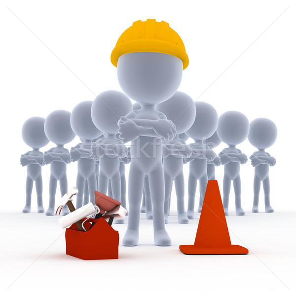 Builders, toon workers with tools Stock photo © photocreo