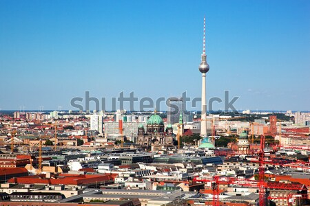 Berlin panorama. Berlin Cathedral and TV Tower Stock photo © photocreo