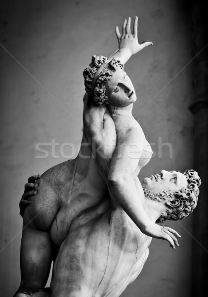 Anciens sculpture viol femmes FLORENCE Italie Photo stock © photocreo