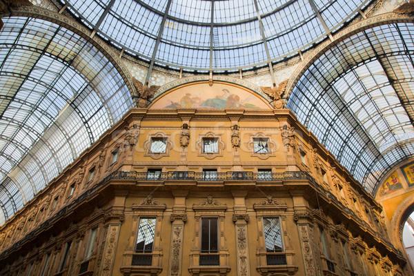 Stockfoto: Galerij · milaan · Italië · geld · gebouw · stad
