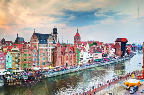 Сток-фото: Top · мнение · Гданьск · старый · город · реке · Польша