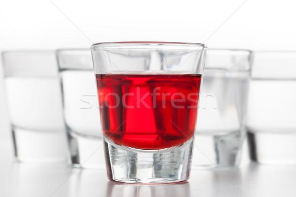 Verres alcool une rouge propre vodka Photo stock © photocreo