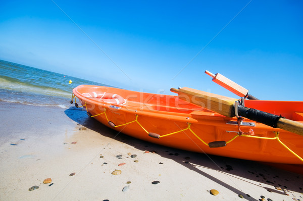 Orange rescue boat  Stock photo © photocreo