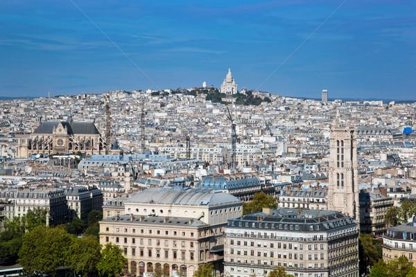 Stock photo: Paris, France. Sacre-Coeur Basilica