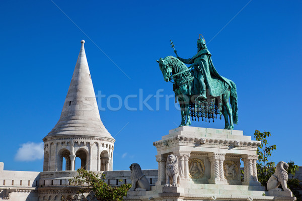 Statue of Stephen I. Budapest, Hungary Stock photo © photocreo