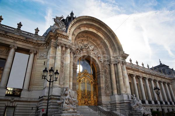 Parijs Frankrijk stad kunst staal standbeeld Stockfoto © photocreo