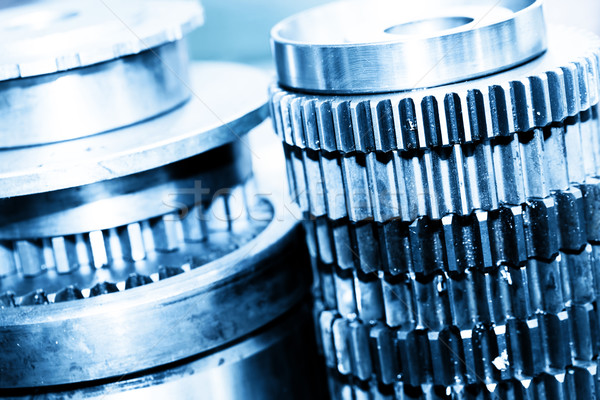 Industrial gear, cogwheels in workshop. Industry  Stock photo © photocreo