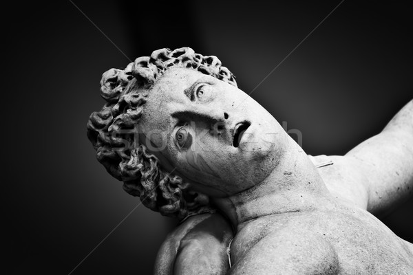 Ancient sculpture of The Rape of the Sabine Women. Florence, Italy Stock photo © photocreo