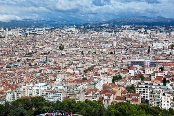 Marseille, France panorama. View from the Notre Dame de la Garde Stock photo © photocreo