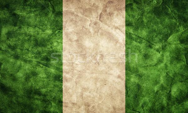 Nijerya grunge bayrak madde benim bağbozumu Stok fotoğraf © photocreo