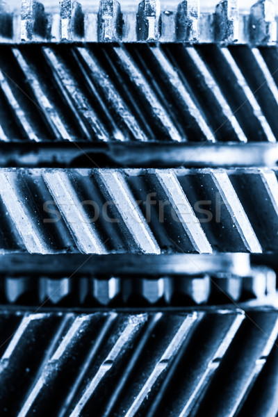 Gears, grunge cogwheels, real engine elements background. Heavy industry Stock photo © photocreo