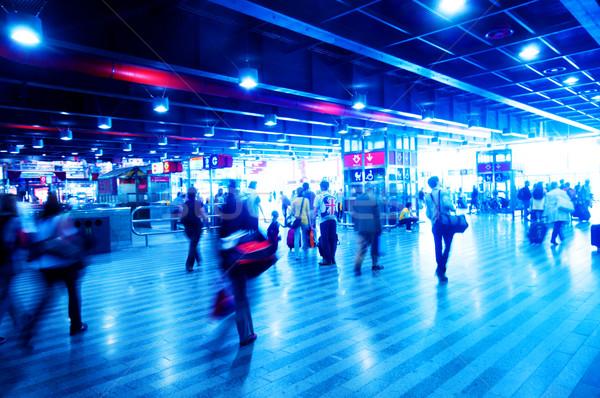 Estação de trem apressar pessoas negócio trabalhar Foto stock © photocreo
