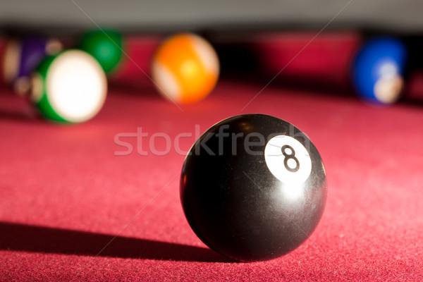 Medence snooker játék fekete nyolc labda Stock fotó © photocreo