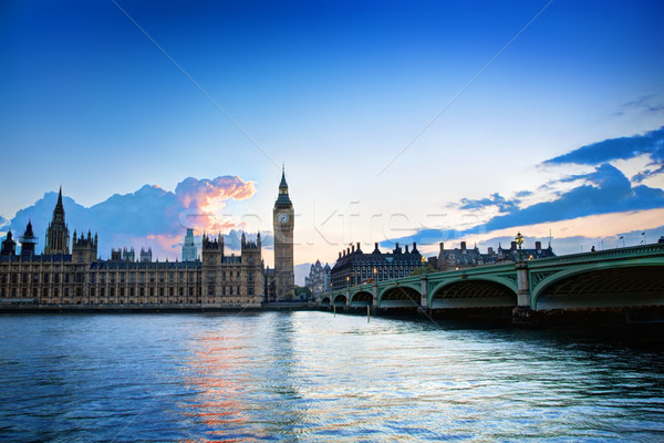 London, the UK. Big Ben, the Palace of Westminster at sunset Stock photo © photocreo