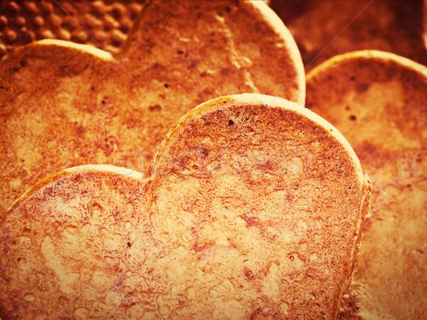 Stock fotó: Szív · alakú · mézeskalács · sütik · közelkép · szeretet
