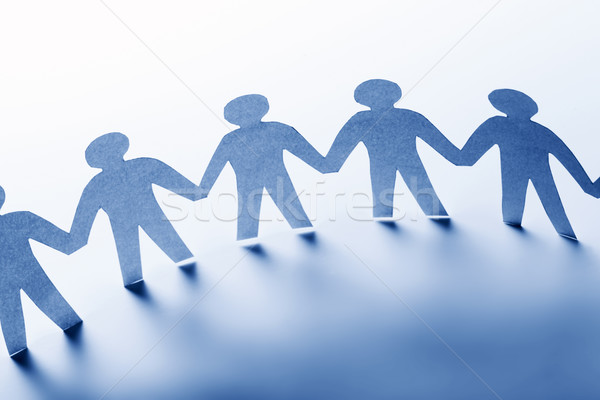Papel personas pie junto mano equipo Foto stock © photocreo