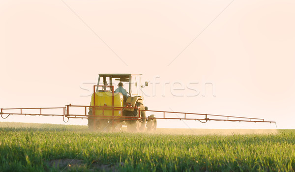 Accent tracteur ciel printemps herbe Photo stock © photocreo