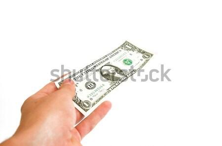 Give away one dollar Stock photo © photocreo