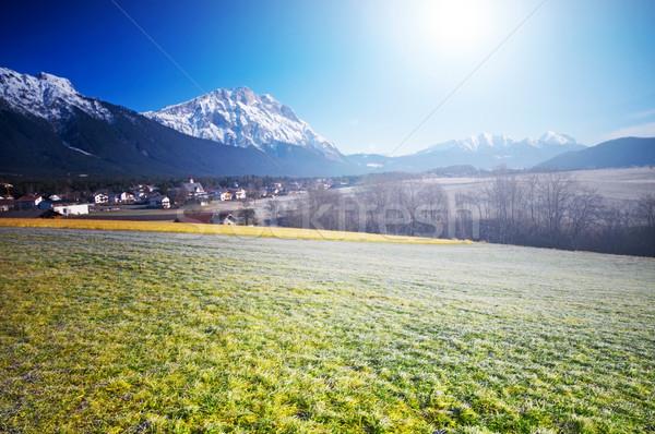 Primavera alpino cenário paisagem blue sky sol Foto stock © photocreo
