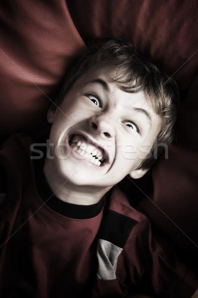 сердиться мальчика портрет глаза лице Сток-фото © photocreo