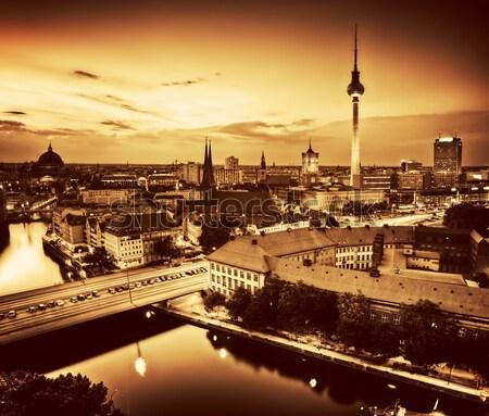 Berlin Németország kilátás tető televízió torony Stock fotó © photocreo