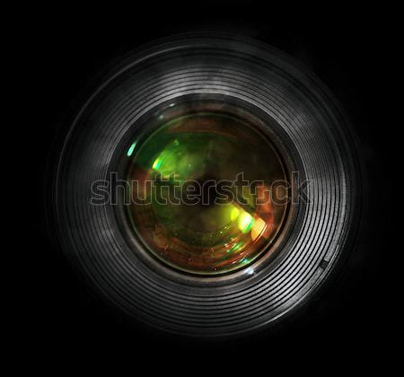 DSLR camera lens, front view Stock photo © photocreo