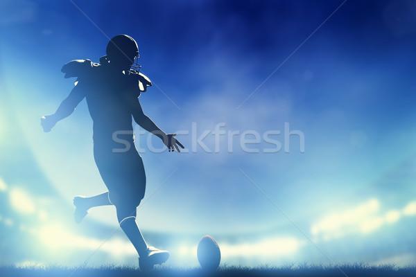 Amerikan top stadyum ışıklar Stok fotoğraf © photocreo