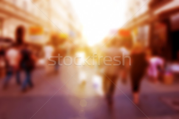 People rush on the street. Blur background, defocused. Stock photo © photocreo