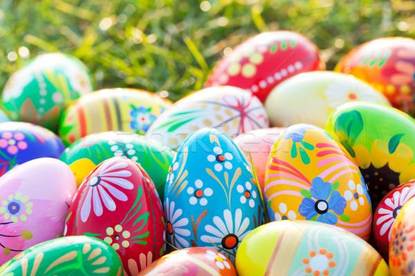 Easter eggs erba primavera modelli arte unico Foto d'archivio © photocreo
