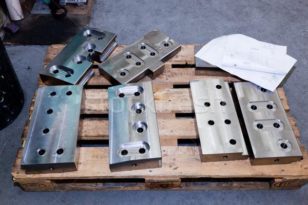 Heavy industrial shipbuilding elements, tools. Industry Stock photo © photocreo