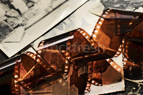 Starych taśmy filmowej zdjęć grunge przestrzeni Zdjęcia stock © photocreo