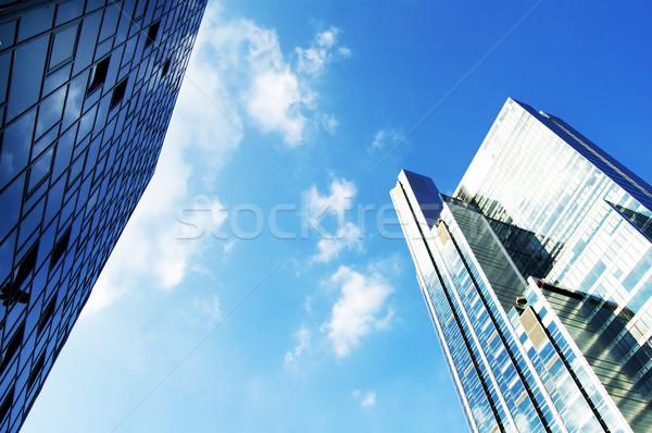 Modernes élevé gratte-ciel gratte-ciel affaires bureau Photo stock © photocreo