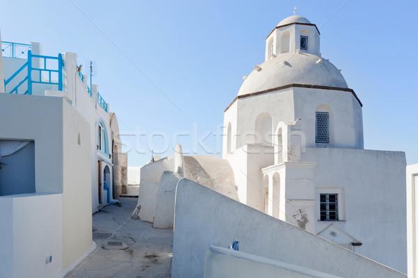 Blanche église santorin île Grèce architecture Photo stock © photocreo