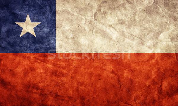 Chile grunge zászló tétel enyém klasszikus Stock fotó © photocreo