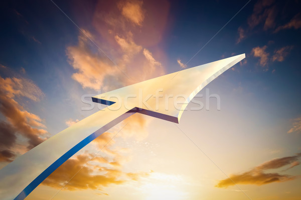 Abstract arrow pointing, growing to the sky. Conceptual growth, bright future, Stock photo © photocreo