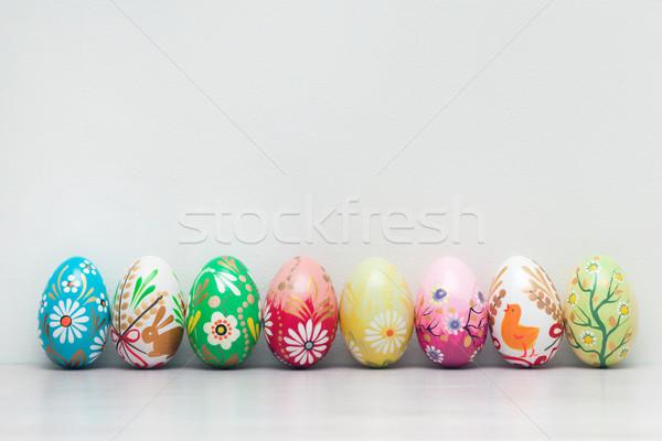 Feito à mão ovos de páscoa coleção primavera padrões arte Foto stock © photocreo