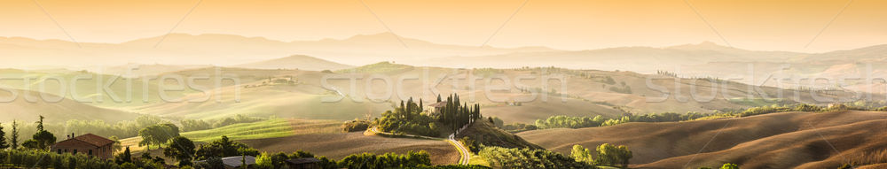 Tuscany, Italy landscape. Super high quality panorama taken at w Stock photo © photocreo